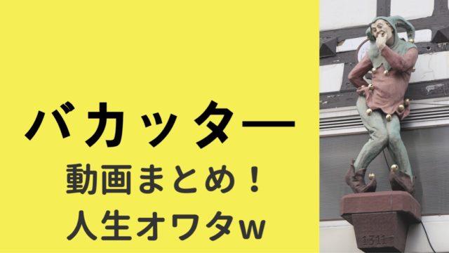バカッター動画まとめ!